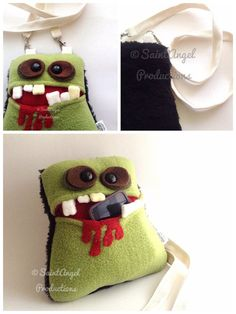 Handmade Zombie Purse, Monster Pocket Mouth Bag by Saint-Angel on deviantART