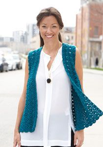 Drapey Crochet Vest to crochet in Caron Simply Soft.