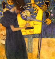 Music 1, by Gustav Klimt - I don't believe I've ever seen this one in my studies~  Love it