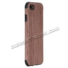 ROCK Element Series Wood Slice  TPU Back Case Cover for iPhone 7 4.7 inch…
