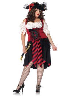 Crimson Pirate Plus Size Costume