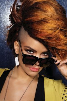 Eva Simons - She can pull off a mohawk and still look pretty!  WOW!