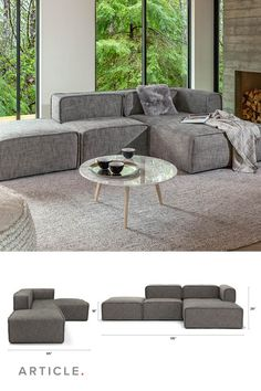 Quadra is a modular sofa, so you can configure it to your needs.