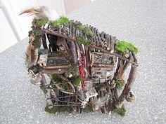 Fairy garden stick house