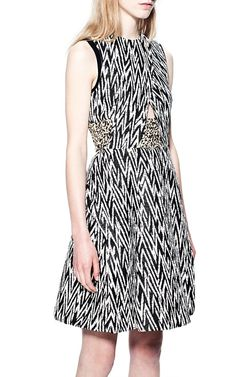Plaster Jacquard Sleeveless Waisted Dress by Proenza Schouler for Preorder on Moda Operandi