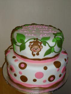 baby shower cakes | Monkey Baby Shower Cake $200 - Kakes By Karen