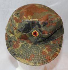 Vintage German Army Camouflage Field Hat by ilovevintagestuff