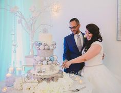 Winter wonderland inspired wedding cake by Party Flavors Custom Cakes.