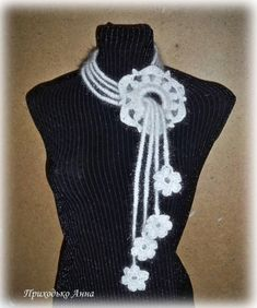 This Pin was discovered by peiBeautiful knit and crochet cow Crochet Jewelry Patterns, Crochet Flower Patterns, Crochet Flowers, Knitting Patterns, Crochet Scarves, Crochet Shawl, Crochet Lace, Crochet Cow, Crochet Bracelet