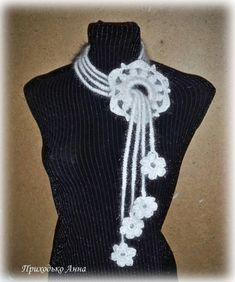 вот такая штучка на шею и бонус / Вязание крючком / Вязаные крючком аксессуары