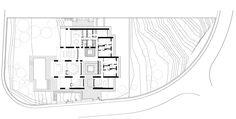 House in Monasterios,Site Plan Ramones, Architecture Plan, Interior Architecture, Small Villa, Bali House, Ground Floor Plan, Stone Houses, Modern House Design, Modern Houses