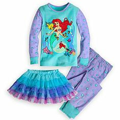 Disney Ariel Deluxe PJ Pal and Tutu Set for Girls Sadie