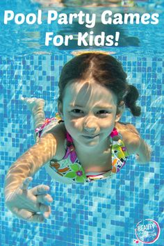 Pool party games can really help kids have more fun at a pool party! Instead of sitting on the edge of the pool, they can all enjoy the party together with these fun pool games! Pool Party Kids, Kid Pool, Kids Party Games, Birthday Party Games, Party Activities, Preschool Birthday, Birthday Ideas, 7th Birthday, Beach Party