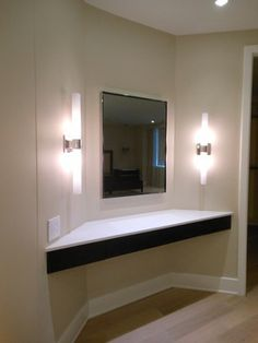Custom vanity in master bedroom; Somerset Penthouse.