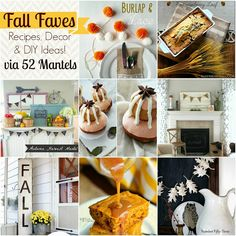 Fall Recipes, Decor and DIY Ideas {Features!}