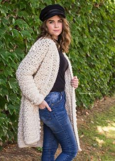 Snow Angel Cardigan Crochet Pattern