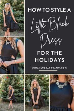 You found your perfect little black dress, but how do you style it for your holiday parties! I have 4 tips for you on how to style your LBD for the holidays! This dress is a wardrobe staple and you'll see why! #littleblackdress #howtostyle #holidaystyle