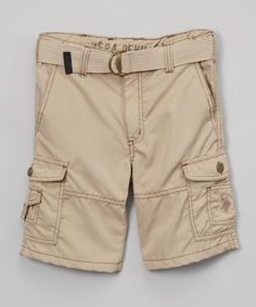 Engine Red Belted Cargo Shorts -Toddler & Boys - Toddler & Boys ...