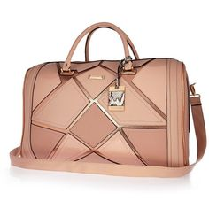 Checkout this Pink patchwork weekend bag from River Island Best Carry On Luggage, Cute Luggage, Luggage Bags, Crossbody Bag, Satchel, Womens Purses, Cute Bags, My Bags, Handbag Accessories