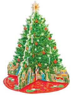 Pop-Up Advent Calendar - Nativity Tree