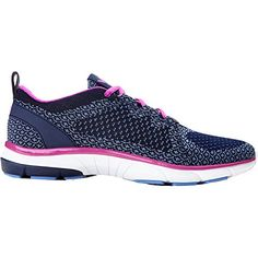 Vionic Womens Flex Sierra Lace Up Sneaker Navy Size 7 Wide ** Details can be found by clicking on the image.