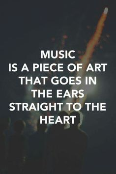 Music into the ears....straight to the heart  ❤