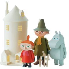 Moomin paper trolls craft book