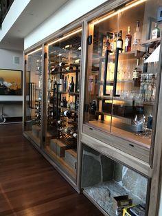 23 Clever DIY Christmas Decoration Ideas By Crafty Panda Home Wine Bar, Home Wine Cellars, Basement Bar Designs, Home Bar Designs, Restaurant Interior Design, Home Interior Design, Modern Home Bar, Wine Cellar Design, Wine Wall