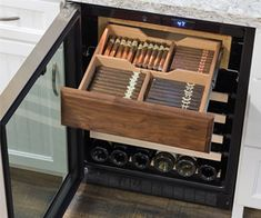 Wine Refrigerator, Wine Fridge, Wine Rack Inspiration, Unique Wine Racks, Wine Rack Design, Le Riad, Home Wine Cellars, Cigar Room, Cigars And Whiskey