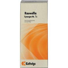 SYNERGON 1 c Rauwolfia Tropfen:   Packungsinhalt: 50 ml Tropfen PZN: 01854951 Hersteller: Kattwiga Arzneimittel GmbH Preis: 7,75 EUR…