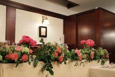 初夏野の装花 芍薬、コーラル色 青山サロン様のウエディングへ : 一会 ウエディングの花
