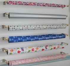 Shabby Chic Craft Corner: DIY Wrapping Paper Organizer