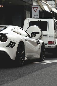 Ferrari F12Berlinetta and Mercedes-Benz G65 AMG