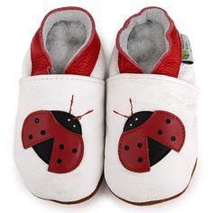 Ladybug Soft Sole Leather Baby Shoes - 13934386 - Overstock ...