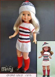 Las Nancys de Mery: Sus conjuntos Pag. 5 Little Darlings, Doll Clothes, Crochet Hats, Girl Dolls, Ideas Para, American Girl, Fashion, Beautiful Dolls, Doll Dresses