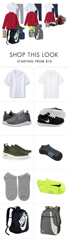 """10/9/17"" by fashion-kpop ❤ liked on Polyvore featuring Lands' End, adidas, NIKE, Puma, Gucci, men's fashion and menswear"
