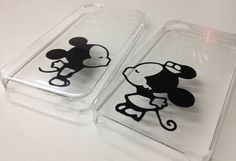 Mickey and Minnie Mouse kissing iPhone Cases