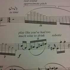 Play like you've had too much wine to drink - Funny sheet music