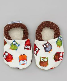 Take a look at this Brown Owl Booties by Scooter Booties on #zulily today!