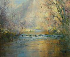 Rex PRESTON-Reflections in the River Dove