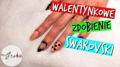 Jak zrobić paznokcie na walentynki? Paznokcie hybrydowe, Swarovski   ♥♥♥
