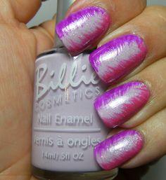 Deez Nailz: Billie Cosmetics Turquois w/ stripes polish