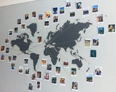 Carte du monde photo Polaroid  Gugu  #Gugu #map #photo #Polaroid #world  Déc