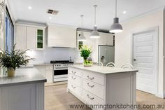 Hampton Style Kitchen Gallery | Harrington Kitchens