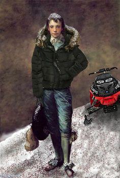The Blue Boy - Snowmobile