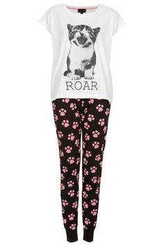 Ensemble pyjama à motifs chats