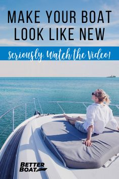 Video tutorial on how to make your boat look like new again using our premium boat cleaning supplies. Boating Hacks and Tips, Outdoor Boat, Clean Your Boat Buy A Boat, Make A Boat, Boat Organization, Boat Navigation, Boat Cleaning, Boating Tips, Boat Shirts, Boat Restoration, Living On A Boat