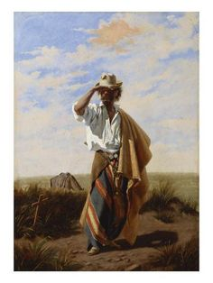The Cowboy, El Gaucho, Century Giclee Print Juan Manuel Blanes Brazil Women, Framed Artwork, Wall Art, Poster Prints, Art Prints, Cool Posters, Pictures To Paint, Find Art, Character Art