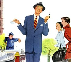 Damn it feels good to be a gangsta. Famous Ads, Fall Collections, Vintage Ads, Illustrations Posters, Illustrators, Mid-century Modern, Mid Century, Feelings, Sarcasm