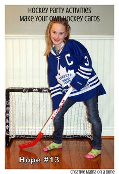 Creative Mama on a Dime: Make your own hockey cards - It's A Hockey Night in Canada Party!